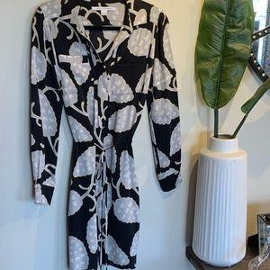 DIANE VON FURSTENBERG 'Taya' Printed Silk Dress